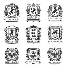 Heraldic Shields, Medieval Ani...