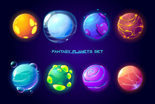 Fantasy Space Planets For Ui G...