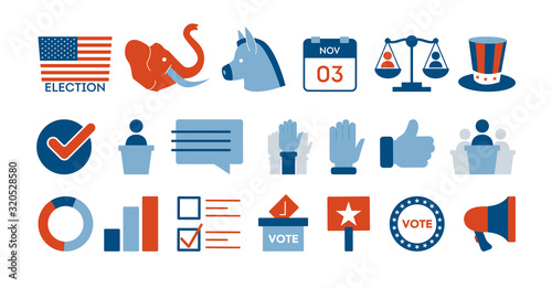 Presidential election in the USA. Idea of political campaign Canvas-taulu