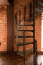 Dark Brown Metal Spiral Stairc...