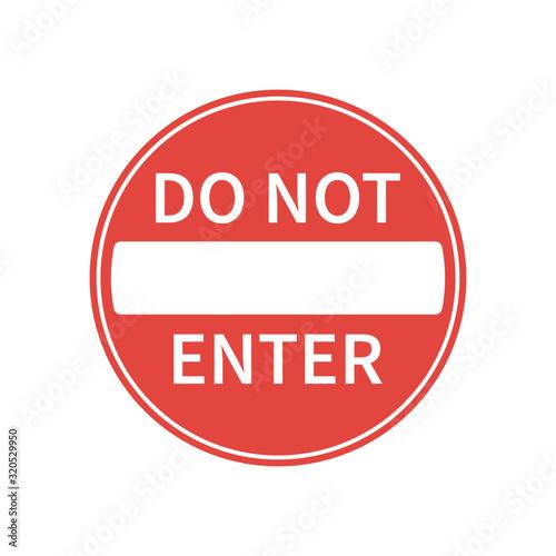 Valokuvatapetti No entry road sign icon shape
