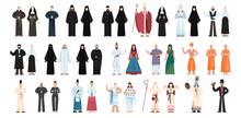 Set Of Religion People Wearing...