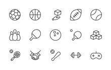 Set Of Sports Balls, Hobbies, ...