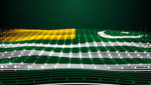 3d Rendered Waving Flag Of Kashmir 5 February Kashmir Day Pakistan Kashmiri Flag 8K Illustration