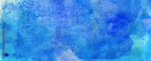blue aqua watercolour abstract grunge  background Canvas Print