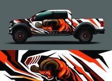Truck Wrap Design Vector. Grap...