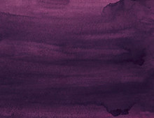 Watercolor Plum Purple Color Background Texture Painting. Old Watercolour Deep Violet Backdrop. Grunge Overlay.