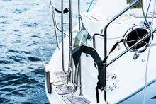 Yacht. Yachting. Boat Winch An...