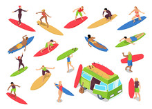 Surfing Isometric Set