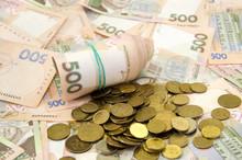 Ukrainian Hryvnia And Coins. B...