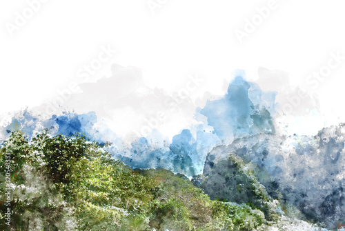 krajobraz-z-halnym-szczytem-i