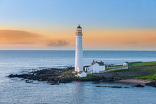 MONTROSE SCOTLAND - 2015 MAY 07. Scurdie Ness Lighthouse At Ferryden.