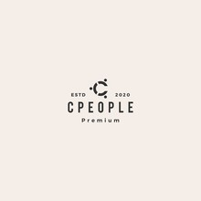 C Letter People Person Logo Ve...