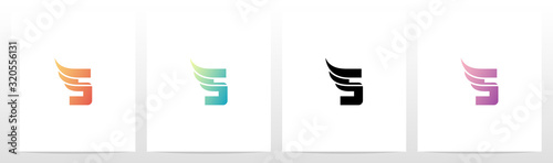 Canvastavla Small Wing On Letter Logo Design S