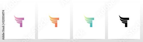 Cuadros en Lienzo Small Wing On Letter Logo Design T