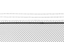 Metal Fence With Barbed Wire I...