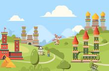 Medieval Buildings. Horizontal...