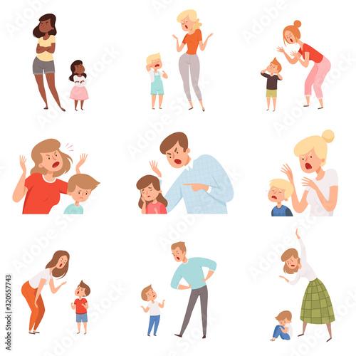 Sad parents Canvas Print