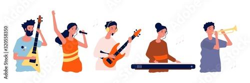 Obraz na plátně Musicians and singers