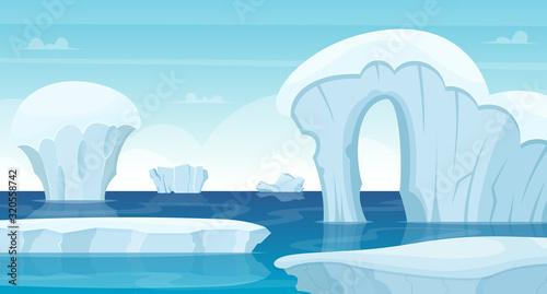 Obraz na plátně Ice rocks background