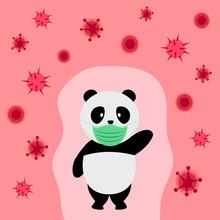 Chinese Panda Wearing Medical ...