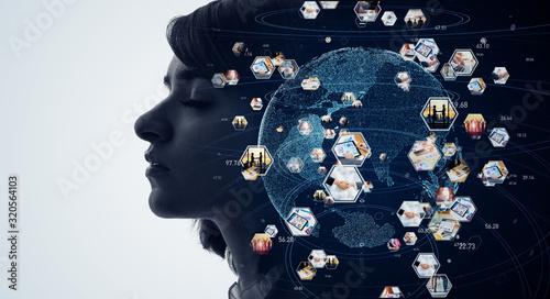 グローバルネットワーク Canvas Print