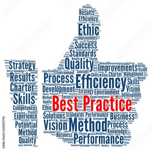 Cuadros en Lienzo Best practice word cloud