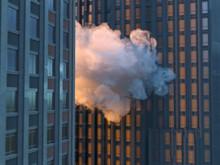 Cloud Between Skyscrapers