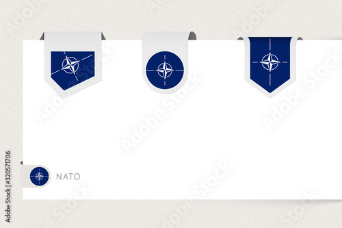 Label flag collection of Nato in different shape Wallpaper Mural