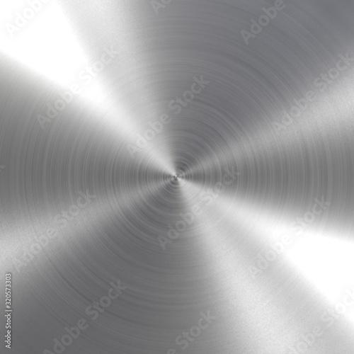 Photo Circular brushed metal texture - background