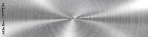 Cuadros en Lienzo Circular brushed metal texture - background