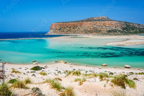 Vászonkép Balos beach and Gramvousa island near Kissamos in Crete, Greece