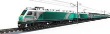3d Elektro Lokomotive Mit Pass...