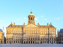 Amsterdam, Netherlands. Royal Palace, A Luxurious Golden Age Palace. The Residence Where Royal Receptions Have Been Held Since 1808