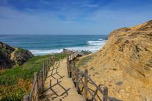 Stairs To Beach On Algarve Coa...