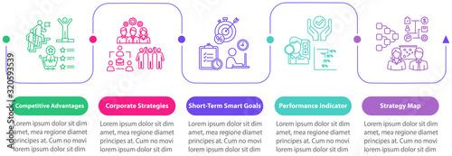 Fotografía Successful business vector infographic template