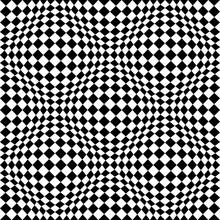 Optical Illusion Checkered Vec...