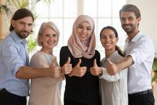 Smiling Multiethnic Colleagues...