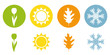 four season summer spring autumn winter symbol vector illustration EPS10