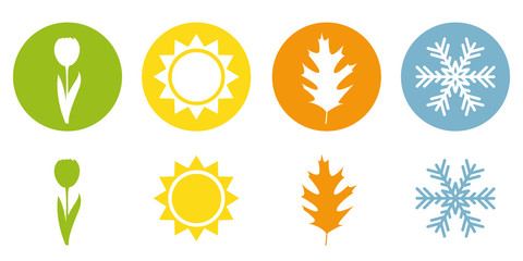 four season summer spring autumn winter symbol vector illustration EPS10