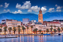 Split, Croatia. View Of Split ...