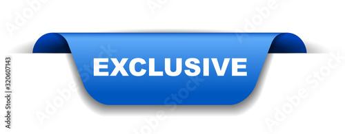 Fotomural blue vector banner exclusive