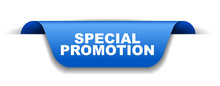 Blue Vector Banner Special Promotion