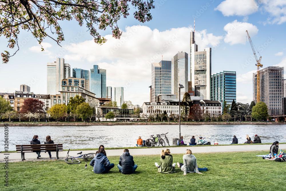 Fototapeta Frankfurt am Main im Frühling, Deutschland,