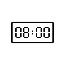 Digital Clock Displaying 8:00 ...
