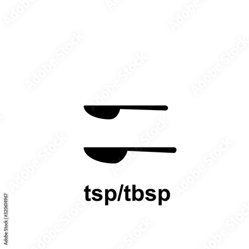 Fényképezés Measuring tablespoon and teaspoon icon