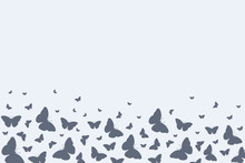 Background With Butterflies. V...