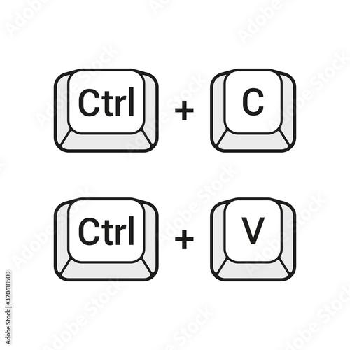 Fotografie, Obraz Ctrl C and Ctrl V keyboard buttons