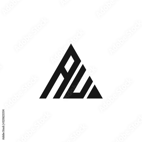 Photo au letter vector logo abstract