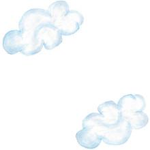 Diagonal Frame With Blue Cloud...